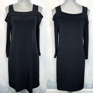 Clara Sun Woo Classic Black Dress Cold Shoulder
